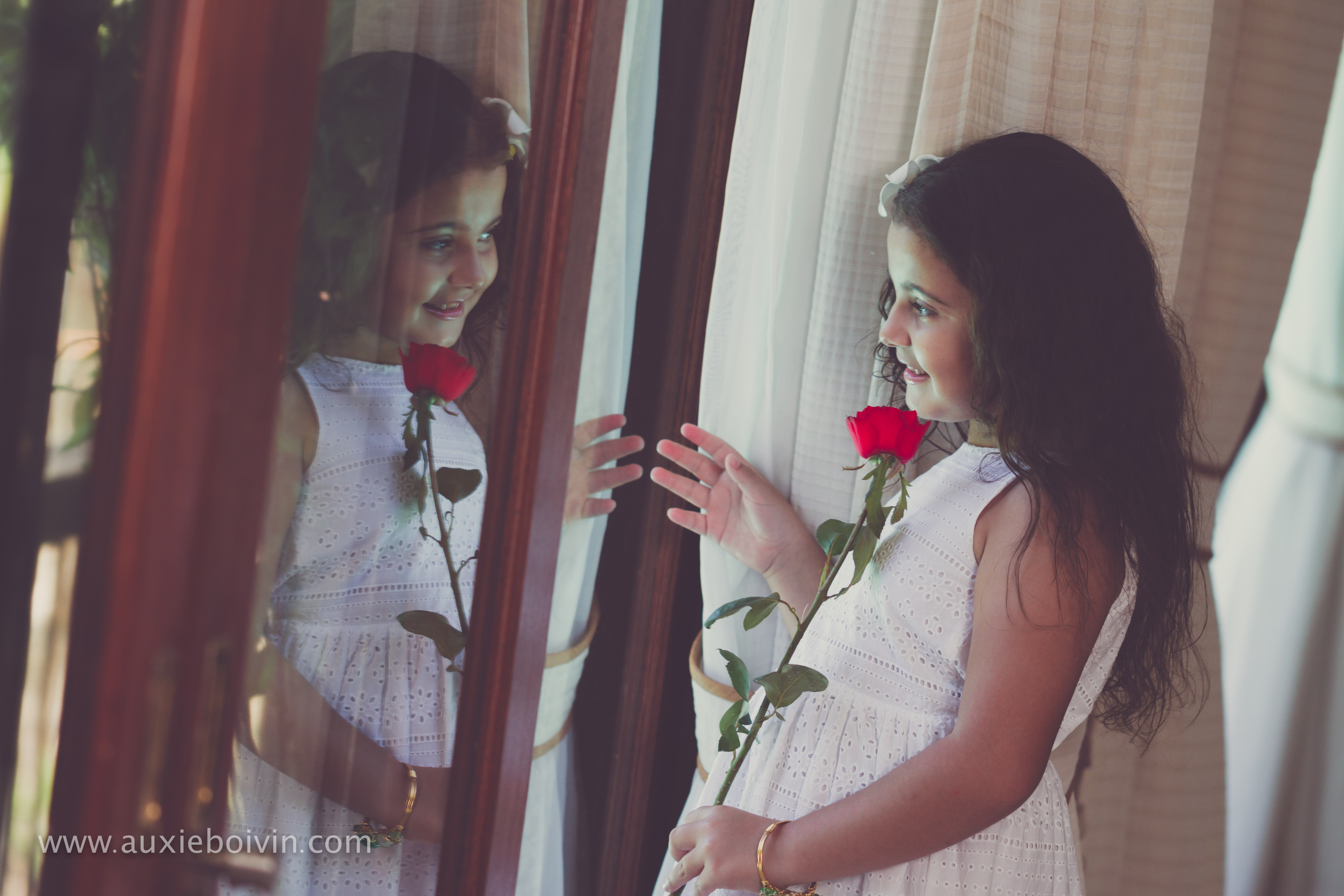 enfants portrait reflet